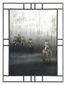 1 Escape on Little Black (panel 2) by Janine Tanzer