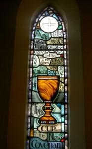 56Proj - Eucharist Window, St Augustine's, Merewether by Jeff Hamilton NSW 1