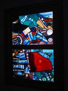 69Proj - Untitled Collage window, Residence, Yarraville by Kim Lester, VIC