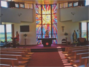 75Proj - St Ita's Church, Druin, Easter Morning Sanctuary window by Ernst Fries, VIC 1