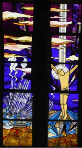 78Proj - St Therese's, Newcastle, Crucifixion Window by Lee Howes and Sr Dorothy Woodward, NSW 1
